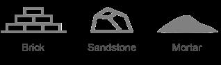 brick sandstone mortar